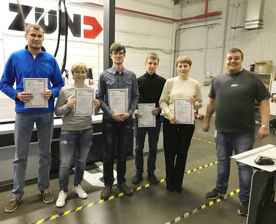 Обучение работе на режущем плоттере в Академии Zünd