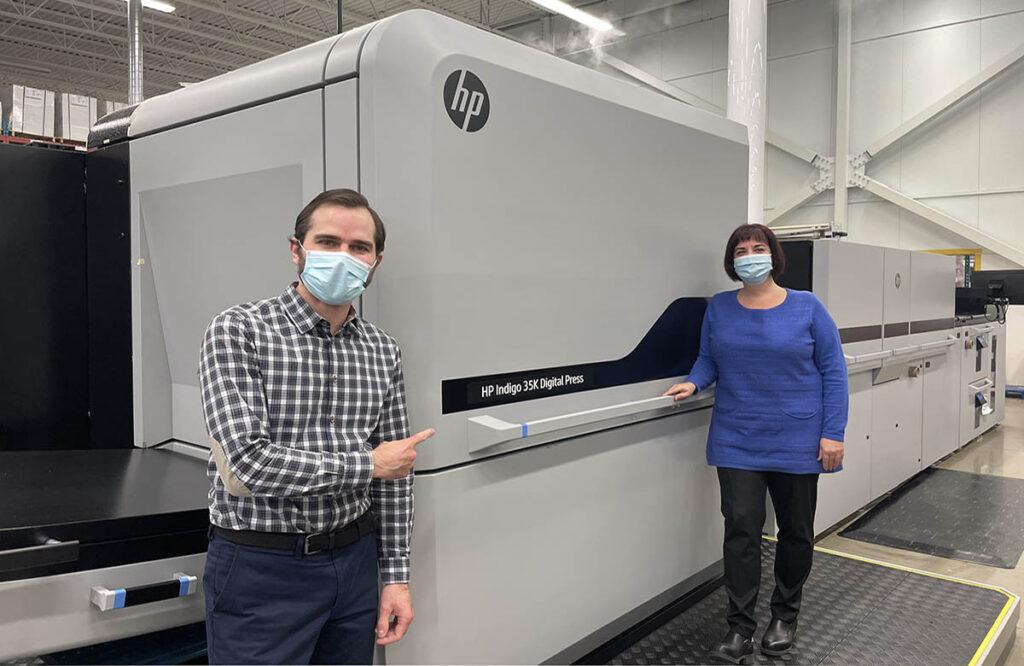 Цифровая-печатная машина HP Indigo в типографии CCL
