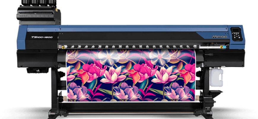 Mimaki TS100-1600 — профессиональный текстильный принтер с производительностью до 70 м/час