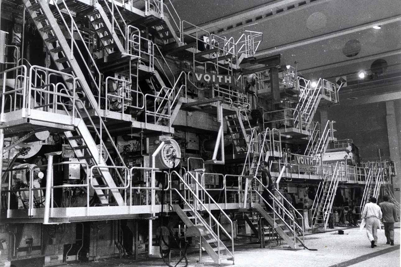 Бумагоделательная машина на фабрике Zanders Gohrsmühle