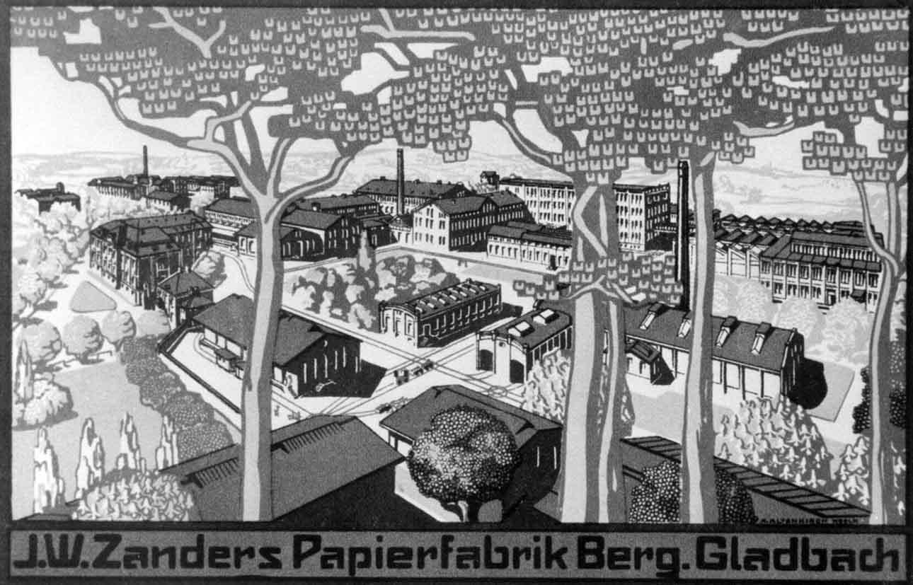 Бумажная фабрика Zanders, 1920