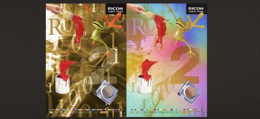 Цифровая печать золотом на Ricoh
