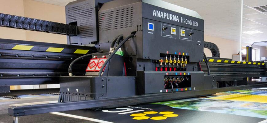 Высокоскоростная гибридная УФ-светодиодная отверждаемая струйная система Anapurna H2050i LED