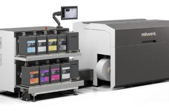 Цифровая печатная машина для печати этикетки Mouvent lb702 uv