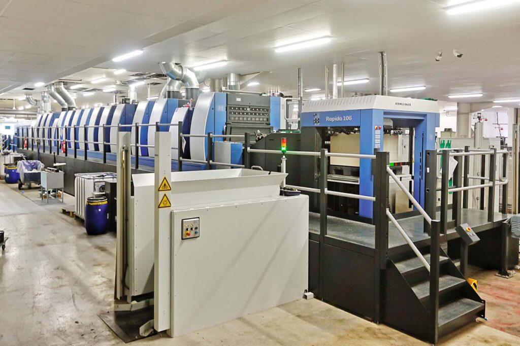 Новая печатная машина Rapida 106 в типографии Saica Pack