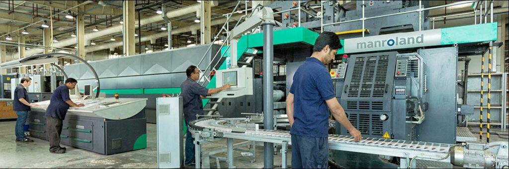 Печатная машина manroland в типографии UPP