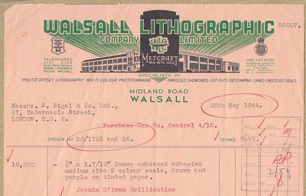 Walsall lithographic order