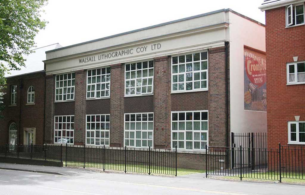 Walsall security printers building